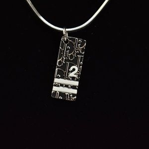"DIOR ""Trotter 2"": Black/Silver CD Logo Necklace nu"